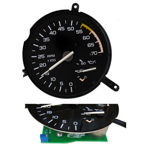 1982-89 Camaro V6 Tachometer & Oil Pressure Gauge + New Circuit Board