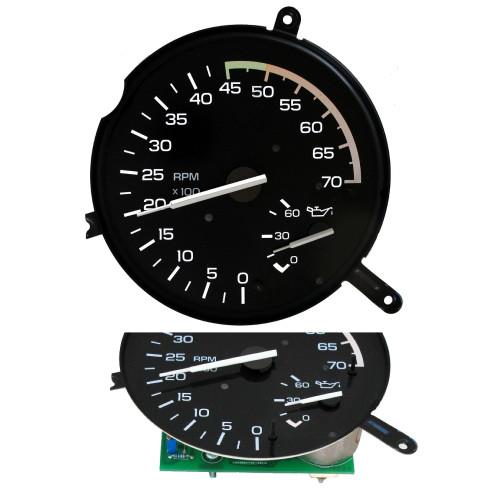 1982-1989 Camaro Z28 V8 Tachometer, Oil Pressure Gauge + New Circuit Board
