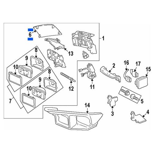 1998-2002 Pontiac Firebird Headlight Cover expanded location