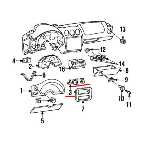 1997-02 Pontiac Firebird Dash Climate Control Unit GM (16216462)