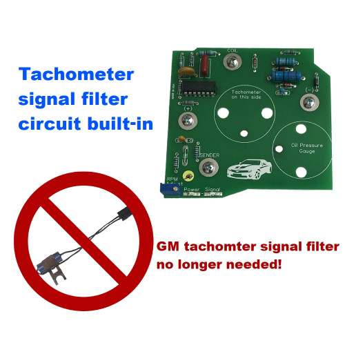 1982-89 Camaro V8 Tachometer Circuit Board with LED's & signal filter