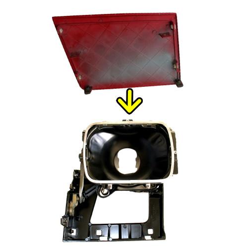 1982-92 Pontiac Firebird Headlight door LH. GM 10014668