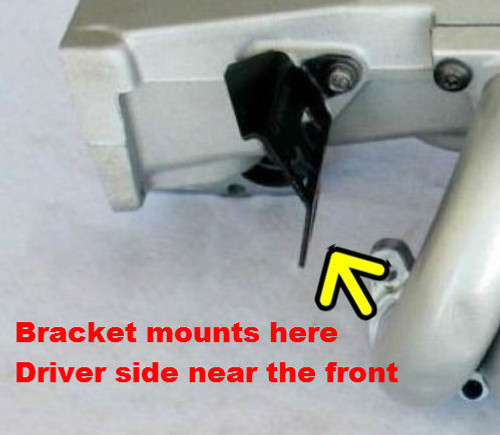 1986-92 Camaro and Firebird Throttle Cable Bracket mounting location diagram