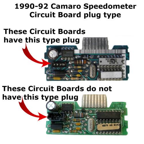 1990-92 Chevy Camaro Speedometer Circuit Board - plug type 1