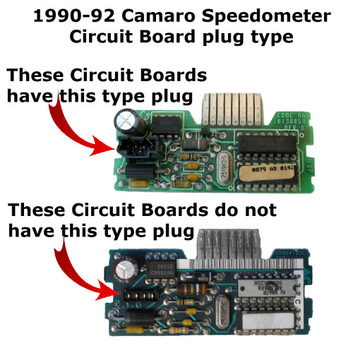 1990-92 Chevy Camaro Speedometer Circuit Board - plug type-2