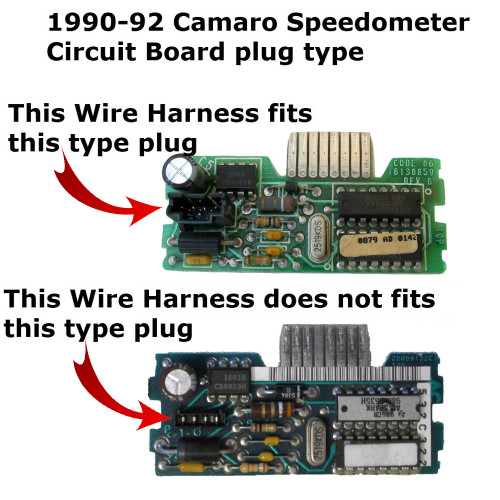 1990-92 Chevy Camaro Speedometer Circuit Board - plug type-2