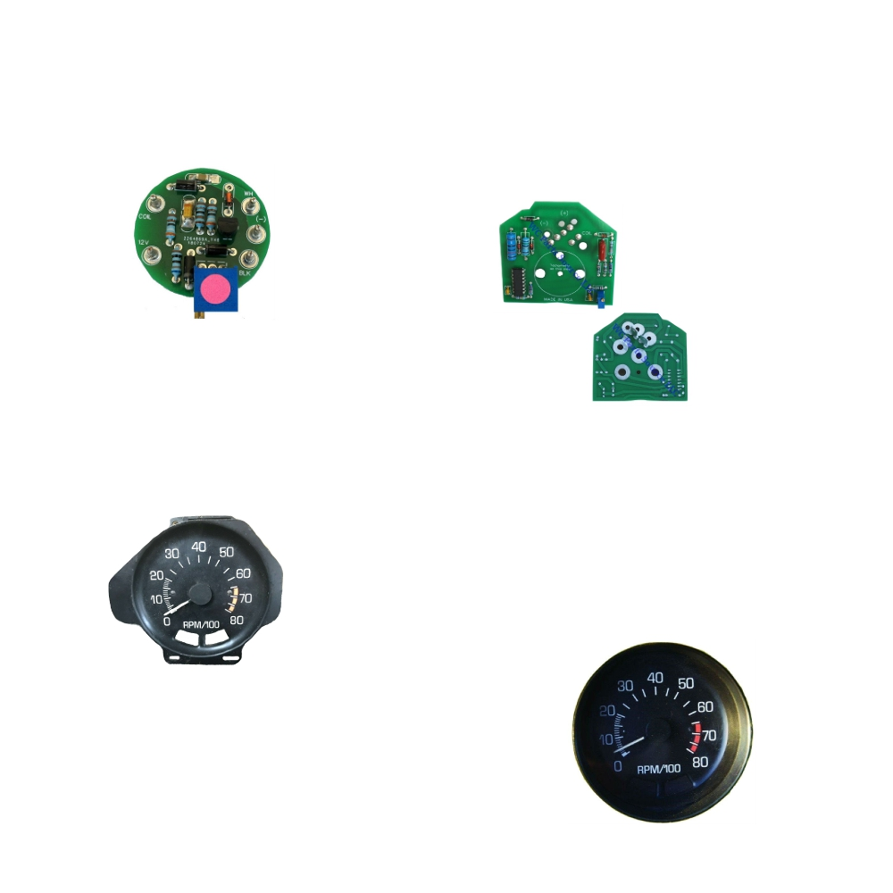 Chevy Vega GM V8 engine swap Tachometer solution