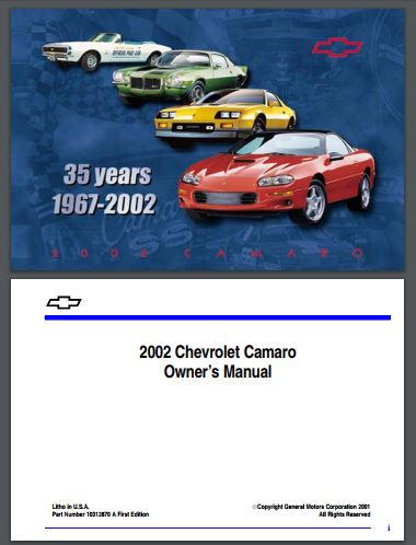 1995 chevrolet camaro owners manual pdf.