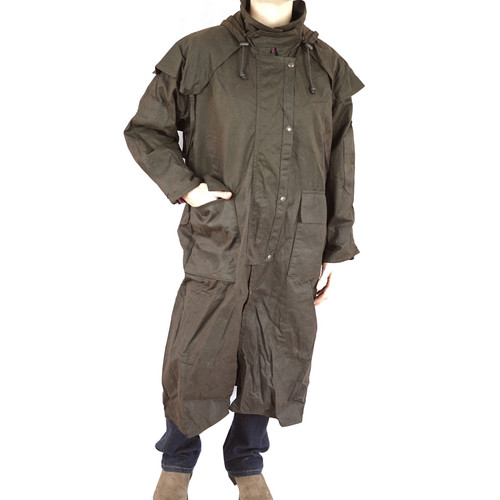 bulldust full length oilskin coat image