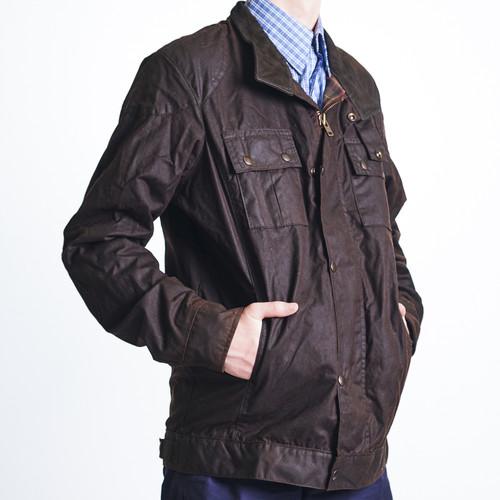bulldust mens oilskin jacket image