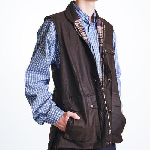 Bulldust oilskin vest image
