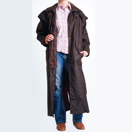bendigo clothing full length oilskin coat image