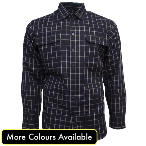 Bisley Mens Cotton Long Sleeve Shirt
