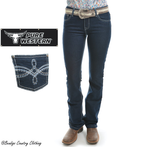 Pure Western Womens Stella Boot Cut Jeans