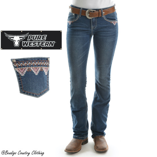 Pure Western Womens Darcy Boot Cut Jeans