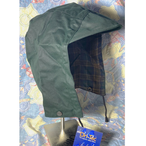 bendigo clothing green oilskin hood