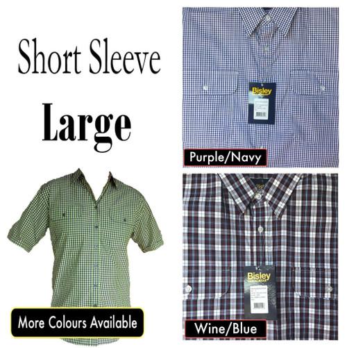 Bisley Mens Countryman Short Sleeve Shirt Large
