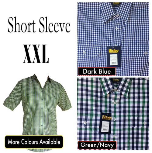 Bisley Mens Countryman Short Sleeve Shirt 2XL