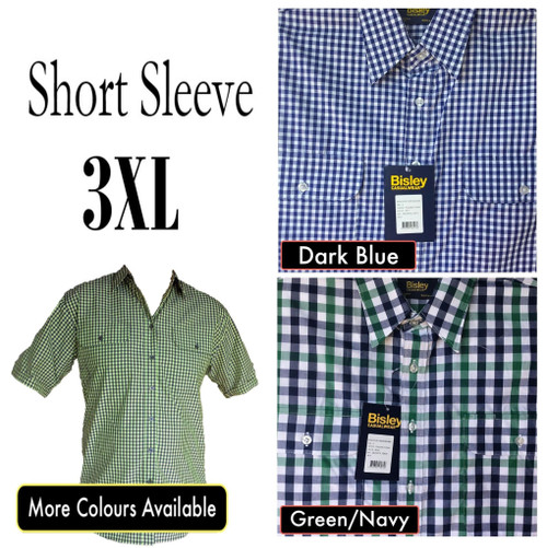 Bisley Mens Countryman Short Sleeve Shirt 3XL