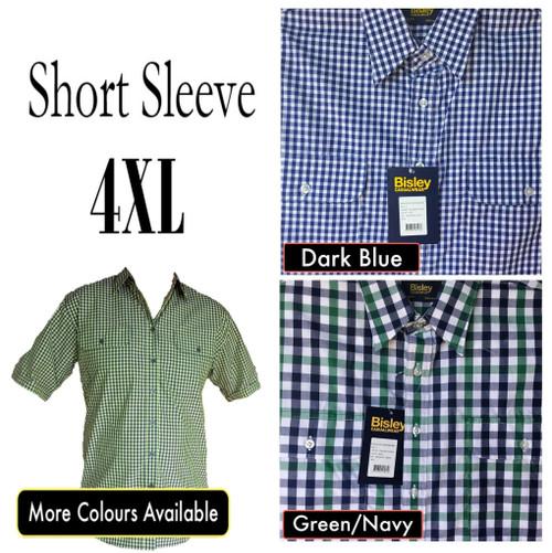 Bisley Mens Countryman Short Sleeve Shirt 4XL
