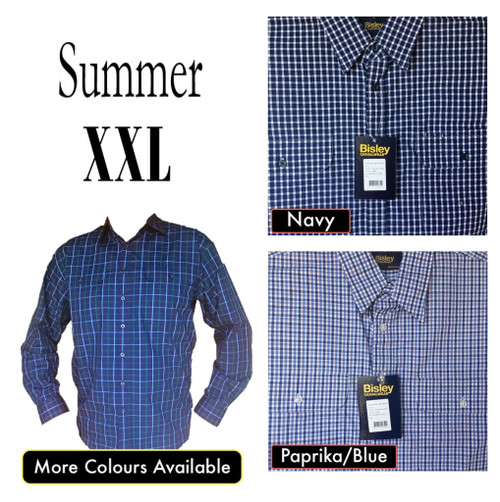 Bisley Mens Summer Long Sleeve Shirt 2XL