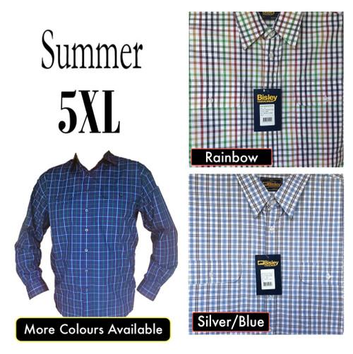Bisley Mens Summer Long Sleeve Shirt 5XL/6XL