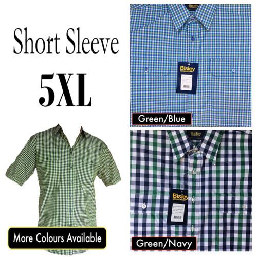 Bisley Mens Countryman Short Sleeve Shirt 5XL/6XL