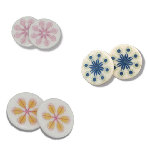 byMille Porcelain Stud Earrings