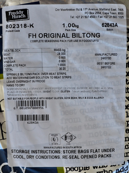 Freddy Hirsch Original Biltong