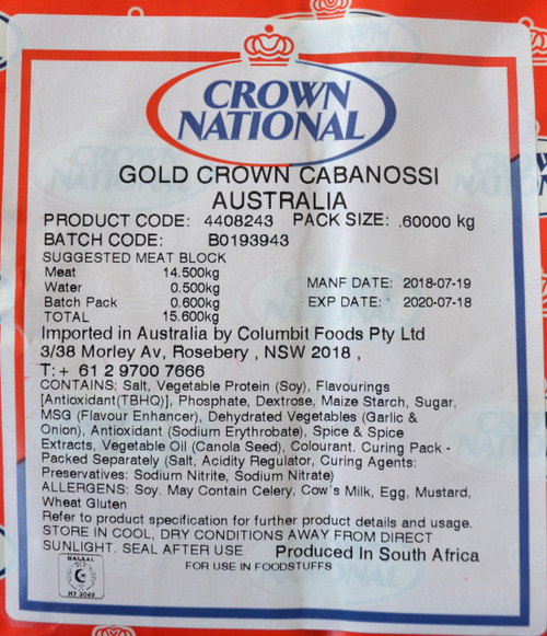 Crown National Gold Crown Cabanossi