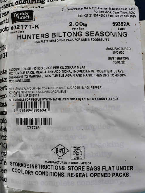 Freddy Hirsch HUNTERS Biltong Spice