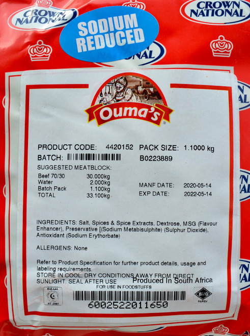 CROWN NATIONAL OUMA'S BOEREWORS SPICE