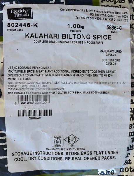 FREDDY HIRSCH KALAHARI BILTONG SPICE