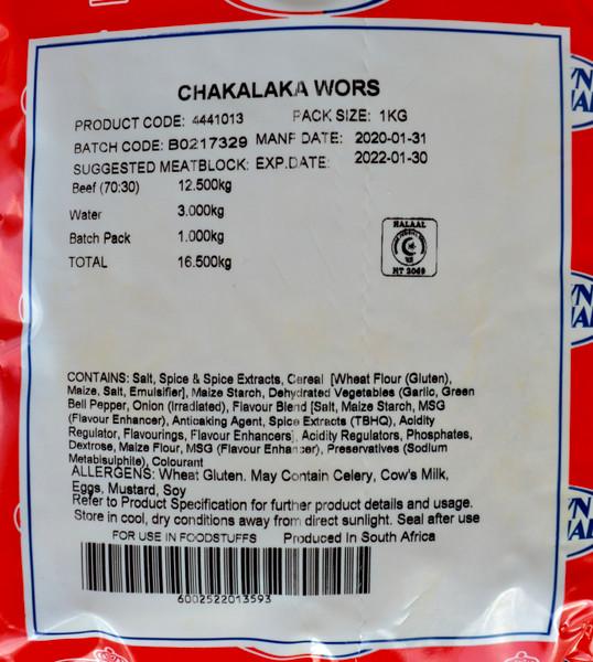 Chakalaka Wors spice