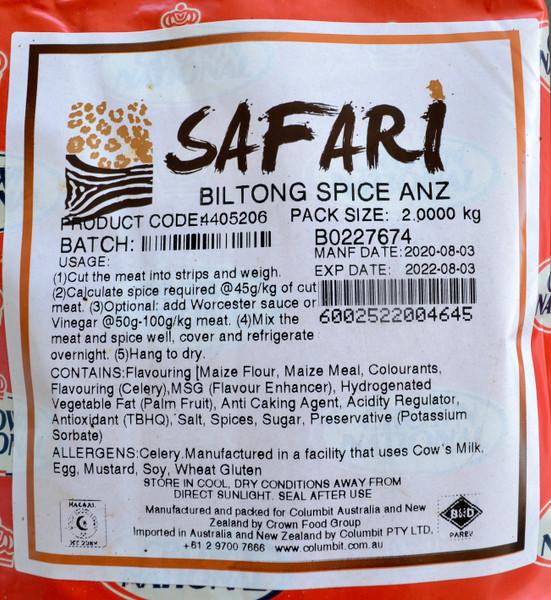 CROWN NATIONAL SAFARI BILTONG SPICE 2Kg