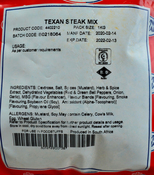 Crown National Texan Steak Mix