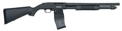 """Mossberg 50205 590M Mag-Fed 12 Gauge 2.75"""" 18.50"""" 10+1 Matte Blued Black Synthetic Stock Right Hand"""