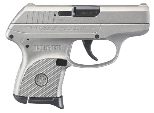 """Ruger 3741 LCP 380 ACP 2.75"""" 6+1 Stainless Cerakote Savage Silver Cerakote Steel Slide Savage Sliver Cerakote Polymer Grip"""