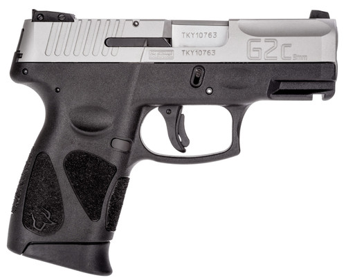 """Taurus, PT111 G2C, Semi-automatic Pistol, Double Action Only, Compact, 9MM, 3.2"""" Barrel, Polymer Frame, Stainless Finish,"""
