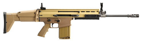 """FN America, SCAR 17S, Semi-automatic Rifle, 308 Win/762NATO, 16"""" Chrome Lined Hammer Forged Barrel, Flat Dark Earth, Telescoping Side Folding Stock, Adjustable Sights, 20 Rounds, American Made"""