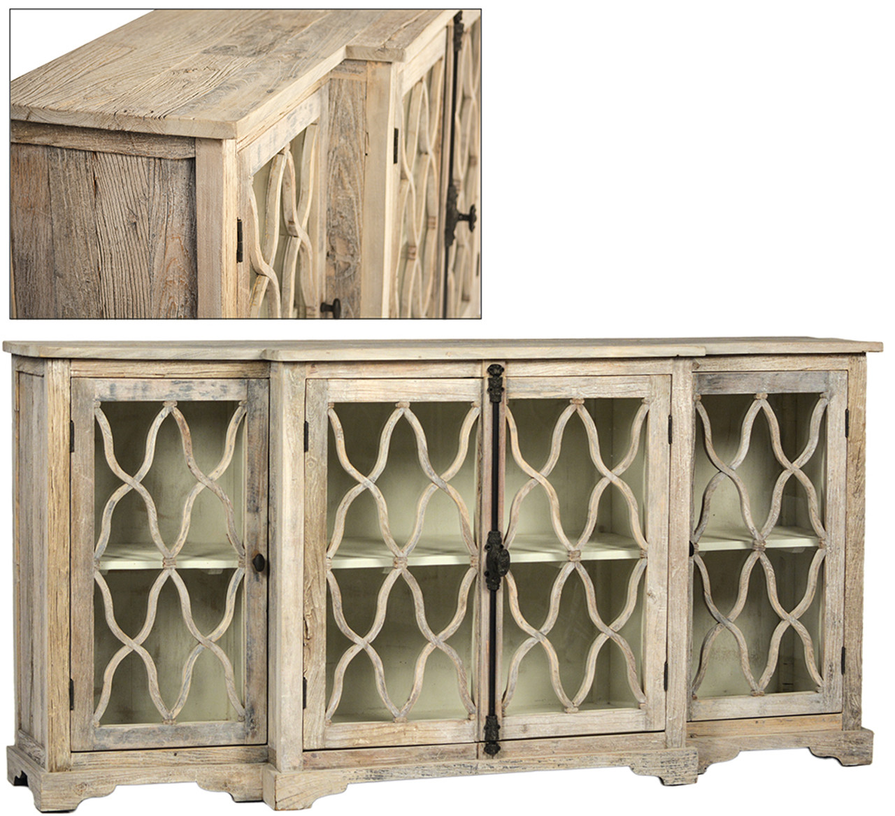 Florence Glass Door White Sideboard
