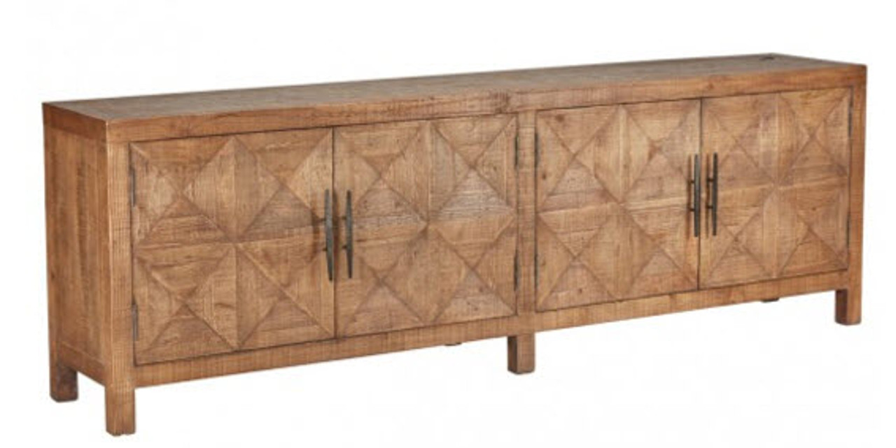 Picture of: Extra Long Wood Sideboard 4 Doors Rustic Modern