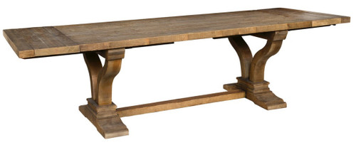 """110"""" Extension Trestle Dining Table"""