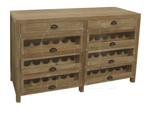 Rustic Wood Wine Buffet
