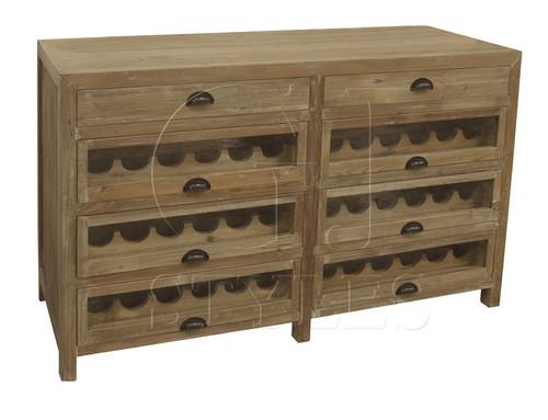 Rustic Wood Wine Buffet