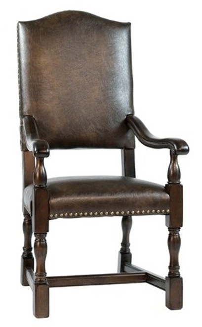 Leather Arm Chair  Dining Tuscan Old World