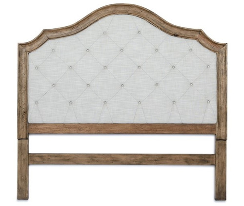 Wood Frame & Tufted Upholstered King Headboard