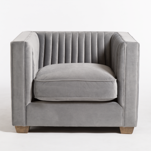 Tuxedo Gray Occasional Chair