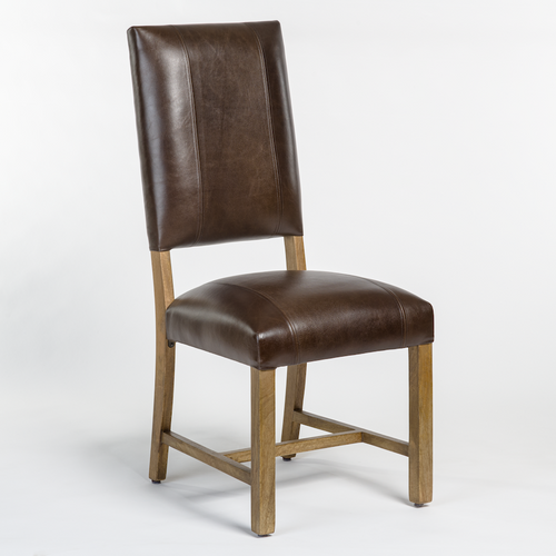 Laguna Leather Side Chair (Brown)
