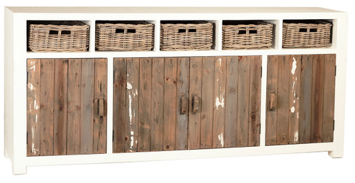Rustic Country Modern Farmhouse Sideboard Buffet